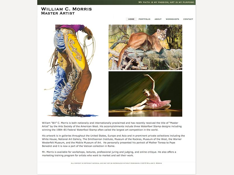 Bill Morris Artist Website